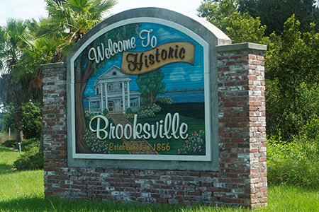 Brooksville, Florida Welcome Sign